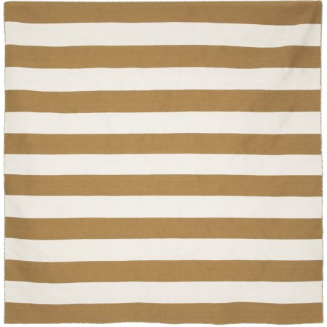 Liora Manné Sorrento Rugby Stripe Collection Area Rug - 8x8', Indoor/Outdoor in Khaki