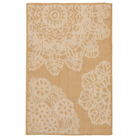 """Liora Manné Terrace Crochet Collection Accent Rug - 23x35"""", Indoor/Outdoor in Almond"""