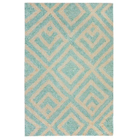 Liora Manné Wooster Kuba Collection Accent Rug - 2x3', Indoor/Outdoor in Aqua