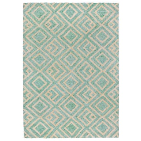 """Liora Manné Wooster Kuba Collection Accent Rug - 3'6""""x5'6"""", Indoor/Outdoor in Aqua"""