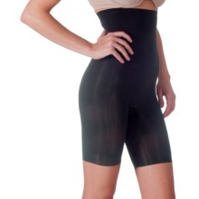 Lipo in a Box Firm Control Hi-Waist Shaping Shorts - Long Leg (For Women) in Black - Overstock