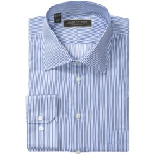Lipson Signature Spread Collar Dress Shirt - Classic Fit, Long Sleeve (For Men) in Blue - Closeouts
