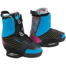 Liquid Force Harley Wakeboard Bindings (For Men) in Black/Blue/Pink - Closeouts