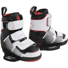 Liquid Force Vantage CT Wakeboard Bindings (For Men) in White/Black/Orange - Closeouts