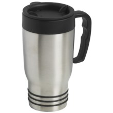 Liquid Solutions Ringer Travel Mug - 20 fl.oz. in Stainless Steel - Closeouts