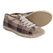 Lisa B. and Co. Espadrille Sneakers (For Women) in Oyster Plaid - Closeouts