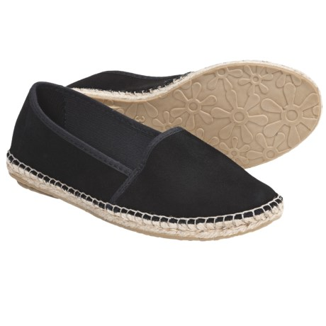 Lisa B. and Co. Suede Espadrille Shoes - Slip-Ons (For Women) in Black