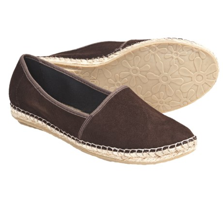 Lisa B. and Co. Suede Espadrille Shoes - Slip-Ons (For Women) in Espresso