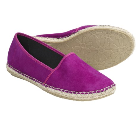Lisa B. and Co. Suede Espadrille Shoes - Slip-Ons (For Women) in Magenta