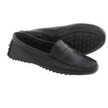 lisa b. Driving Moccasins - Suede (For Men and Women) in Black Leather - Closeouts