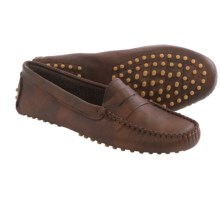 lisa b. Driving Moccasins - Suede (For Men and Women) in Brown Leather - Closeouts