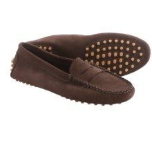lisa b. Driving Moccasins - Suede (For Men and Women) in Dark Brown Suede - Closeouts