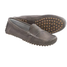 lisa b. Driving Moccasins - Suede (For Men and Women) in Niquel Leather - Closeouts