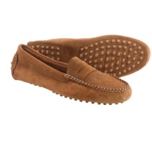 lisa b. Driving Moccasins - Suede (For Men and Women) in Whiskey Suede - Closeouts