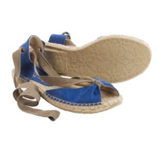 lisa b. Espadrille Sandals - Suede (For Women) in Cobalt - Closeouts