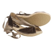 lisa b. Espadrille Sandals - Suede (For Women) in Espresso - Closeouts