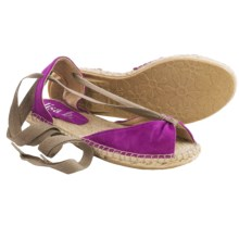 lisa b. Espadrille Sandals - Suede (For Women) in Magenta - Closeouts
