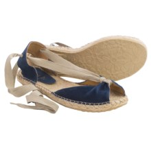 lisa b. Espadrille Sandals - Suede (For Women) in Navy - Closeouts
