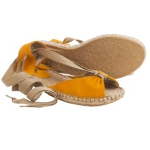 lisa b. Espadrille Sandals - Suede (For Women) in Sunflower - Closeouts