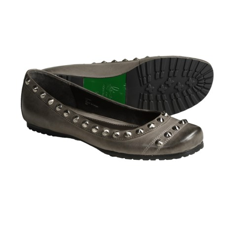 Lisa for Donald J. Pliner Femmi Flats - Studded Leather (For Women) in Black Suede