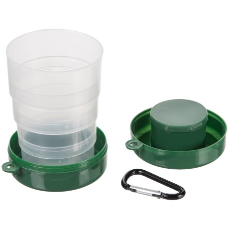 Lit Collapsible Camping Cup - 7 oz. in Green