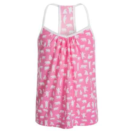 Little Blue House by Hatley Bears Tank Top (For Big Girls) in Fuchsia Bears - Closeouts