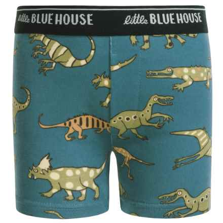 Little Blue House by Hatley Boxer Shorts (For Little Boys) in Blue Dinos - Closeouts