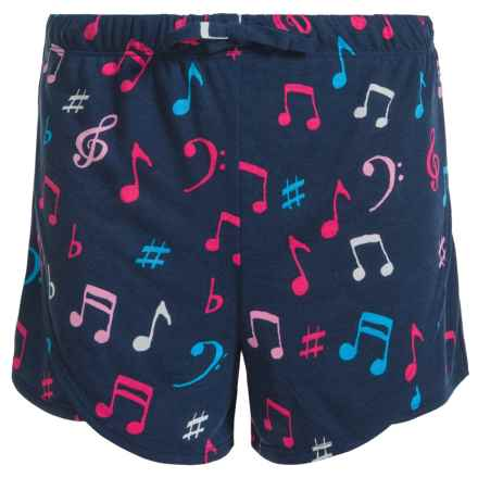 Little Blue House by Hatley Music Notes Shorts (For Big Girls) in Colorful Music Notes - Closeouts