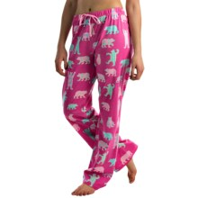 Little Blue House by Hatley Printed Jersey Pajama Pants (For Women) in Bearly Sleeping - Closeouts