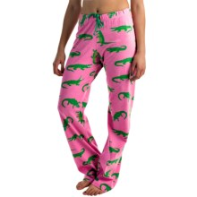 Little Blue House by Hatley Printed Jersey Pajama Pants (For Women) in Man Eater - Closeouts