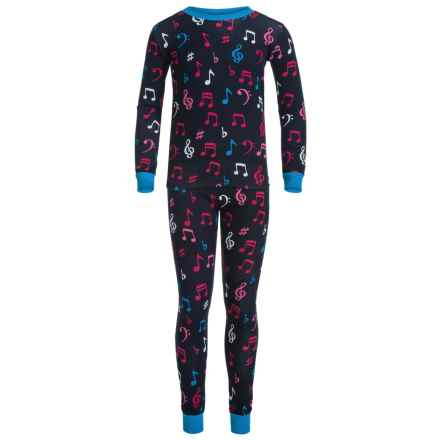 Little Blue House by Hatley Shirt and Pants Pajamas - Long Sleeve (For Little Kids) in Colorful Music Notes - Closeouts