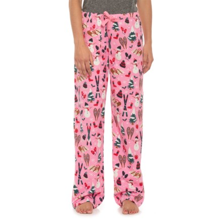 dfa4b562e9 Little Blue House Cotton Flannel Relaxed Pajama Pants (For Women) in  Vintage Holidays -