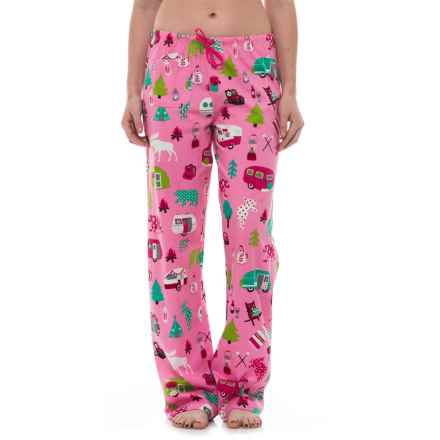 Little Blue House Glamping Pajama Pants (For Women) in Pink - Closeouts