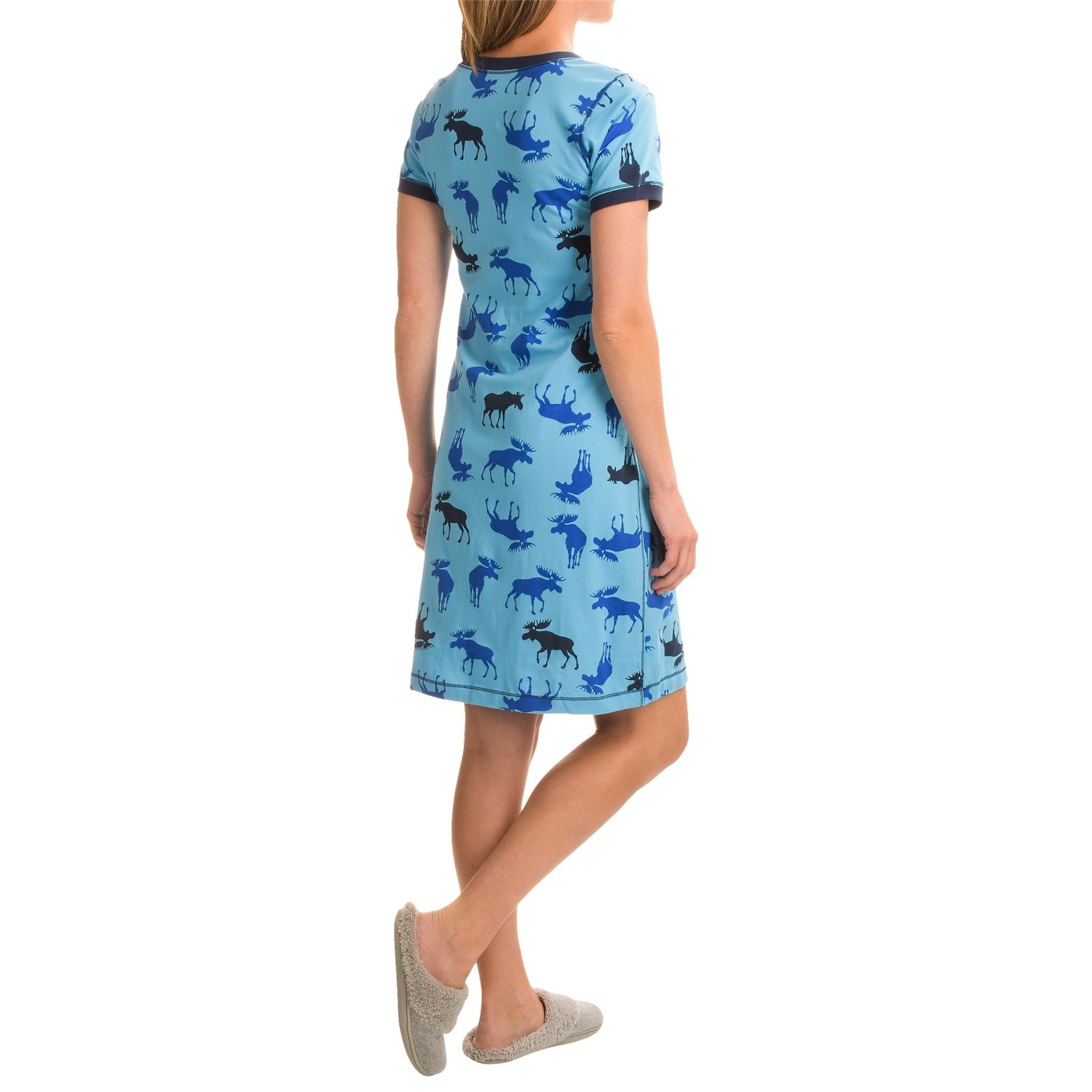 little blue house moose print nightshirt for women save 71