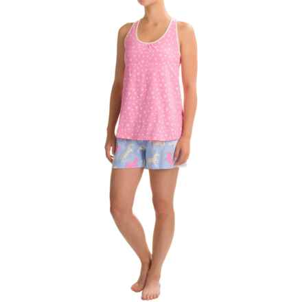 Little Blue House Shorty Pajamas - Sleeveless (For Women) in Hearts & Horses - Closeouts
