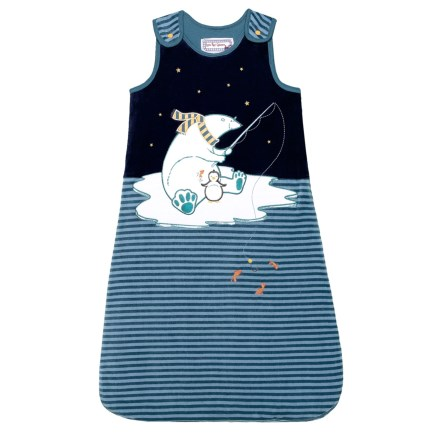 ee08b26d7 Little Red Caboose Lapped Shoulder Arctic Friends Sleeping Bag (For Infants)  in Navy