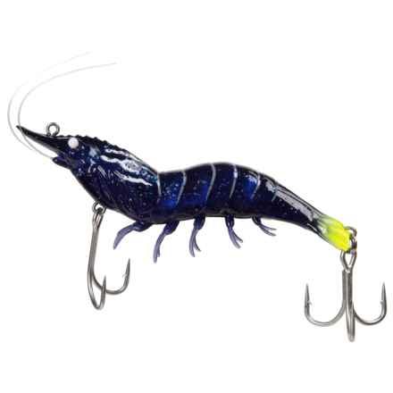 """Live Target Saltwater Hybrid Shrimp Jig - 4"""", Slow Sink in Black Tiger - Closeouts"""