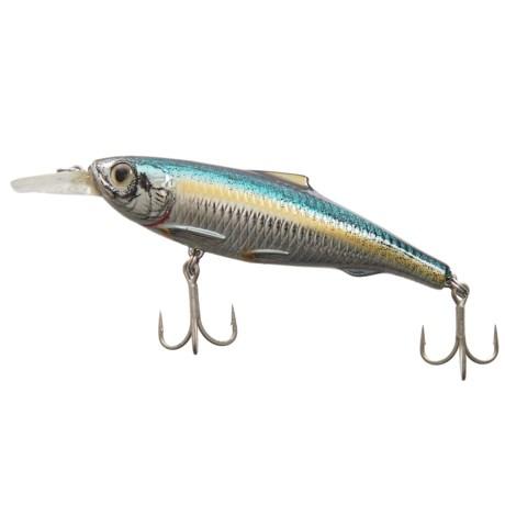 "Live Target Spanish Sardine Jerkbait Lure - 4-1/8"" in Silver/Blue/Green"