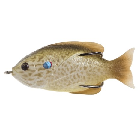 "Live Target Sunfish Hollow Body Floating Lure - 3"" in Pearl/Olive Pumpkinseed"