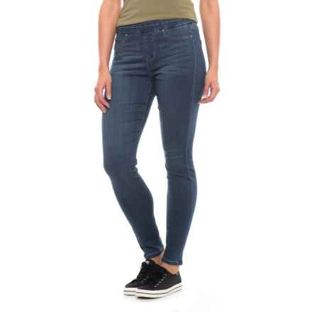Liverpool Jeans Company Ankle Skinny Leggings - Mid Rise (For Women) in Elysian Dark - Closeouts