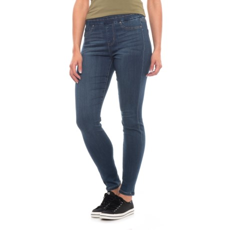 Liverpool Jeans Company Ankle Skinny Leggings - Mid Rise (For Women) in Elysian Dark