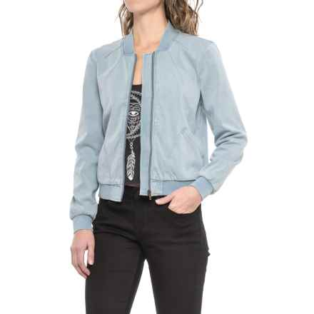 Liverpool Jeans Company Bomber Jean Jacket (For Women) in Bleach Out - Closeouts
