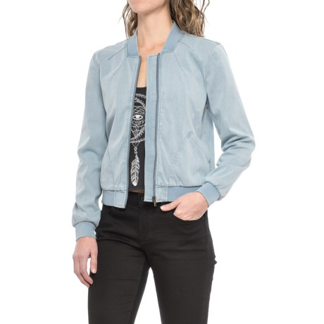 Liverpool Jeans Company Bomber Jean Jacket (For Women) in Bleach Out