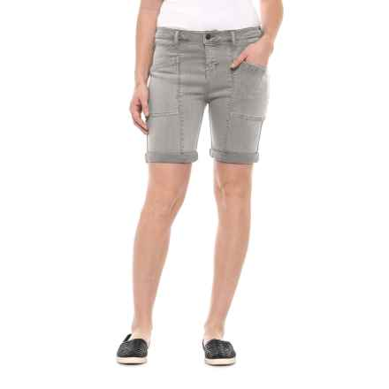 Liverpool Jeans Company Cargo Shorts (For Women) in Shark - Closeouts