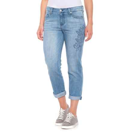 Liverpool Jeans Company Cropped Boyfriend Jeans (For Women) in Skyline - Closeouts
