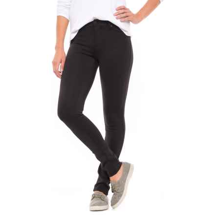Liverpool Jeans Company Ponte Leggings - Zip Front (For Women) in Black - Closeouts