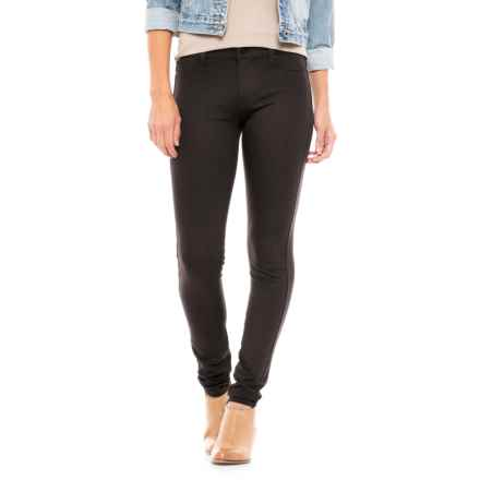 Liverpool Jeans Company Ponte Leggings - Zip Front (For Women) in Dark Chocolate Stripe - Closeouts