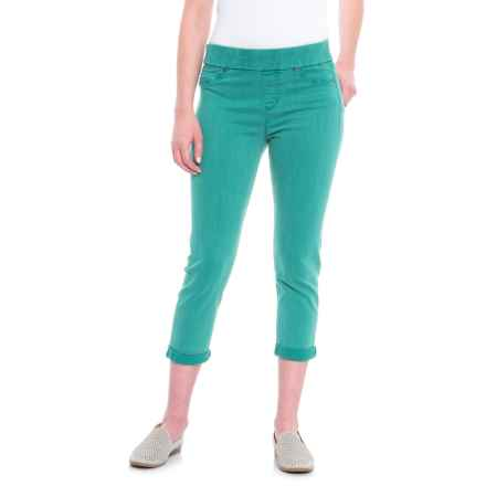 Liverpool Jeans Company Pull-On Rolled Capris (For Women) in Fanfare Blue - Closeouts