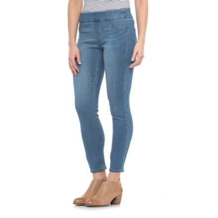 Liverpool Jeans Company Pull-On Skinny Ankle Jeans (For Women) in Aster Lt Blue - Closeouts