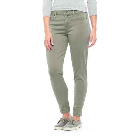 Liverpool Jeans Company Relaxed Ankle Skinny Pants - Mid Rise (For Women) in Shadow Green - Closeouts